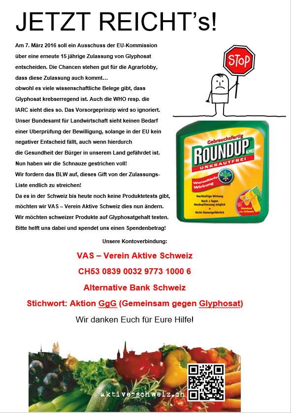 Glyphosat Produktetest